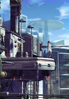 The future is now, art by Luca Oleastri - www.innovari.it #scifi #illustrator
