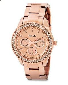 Rose gold fossil watch. Hehe I have this watch. ❤️