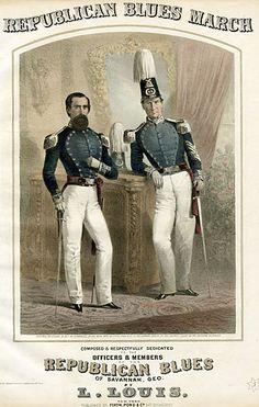 Savannah militia units were caught up in war fever