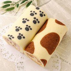 アニマルロールケーキ2本セット Swiss Roll Cakes, Swiss Cake, Decoration Patisserie, Dessert Decoration, Cake Cookies, Cupcake Cakes, Realistic Cakes, Inside Cake, Japanese Cake