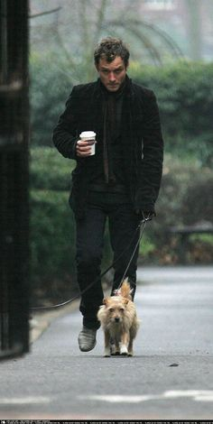 Jude Law with his dog Bess