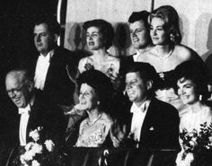 The Kennedy family on Inauguration Night