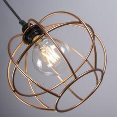 Lámpara colgante FRAME Luxe A cobre Aplique PIOMBINO 1 óxido #deco #interiorismo #homedeco