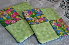 Set of 2 Easter/Spring Hot Pad/Potholder by MistyMeadowTreasures on Etsy