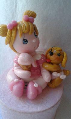 bambolina realizzata in pasta di mais, porcellana fredda ,porcelana fria