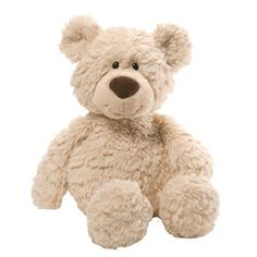 """Gund is proud to present Pinchy — this beige version of our popular 17"""" character bear features a classic design with a big smile as well as floppy arms and legs. Corduroy accents on the nose prov..."""