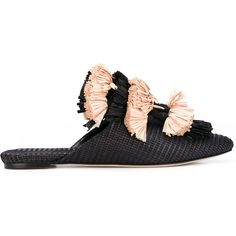 Sanayi 313 Anetta slippers (15.377.380 VND) ❤ liked on Polyvore featuring shoes, slippers and black