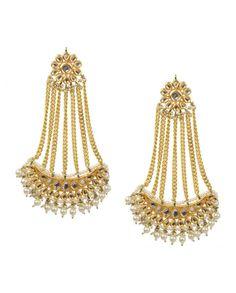 Chandbali Jhumar Earrings by Preeti Mohan Shop Now: http://goo.gl/Okehoz