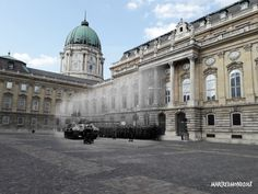 Budapest 'Then and Now' - A German tank in the court of the Royal Palace 1944 - 2018 I Give Up, History Photos, Royal Palace, Palaces, Georgian, Budapest, Dublin, Wwii, Past