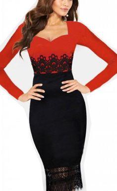 WIIPU Womens Sexy Pencil dress Career Splicing red Fit Slim lace Dress(J386)- Small WIIPU,http://www.amazon.com/dp/B00HP533UM/ref=cm_sw_r_pi_dp_6eb5sb167H0JKKQM