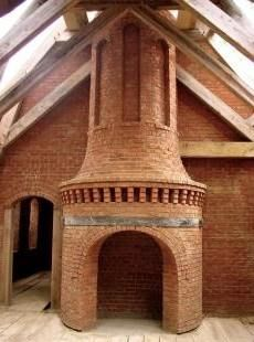 this is gorgeous! I want a brick fireplace like this on my back patio when Nick builds our house!!!