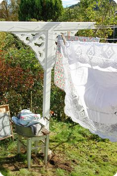 """I just love hanging clothes """"out on  the line."""""""