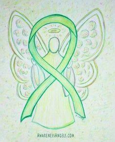 mental health ribbon tattoo | ribbon is for Lymphoma, Non-Hodgkins Lymphoma, Lyme Disease, Mental ...