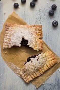 blueberry handpie + vanilla custard.