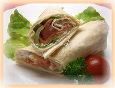 Lachs-Wraps mit Honig-Senf-Dipp