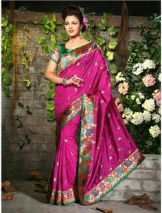 http://aiuchefashion.com/women-wear/saree/silk-sarees/94425227.html  Ravishing Attire To Enhance Your Beauty. Be The Center Of Attraction With This Pink Raw Silk Saree. The Lovely Kasab & Multi Work A Substantial Feature Of This Attire.