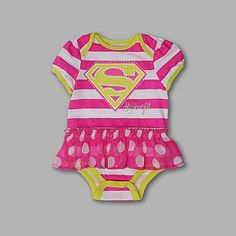 Disney- -Girls Newborn & Infant Super Girl Tutu Romper