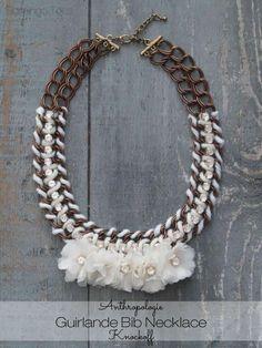 Anthropologie Guirlande Bib Necklace Knockoff - so gorgeous! made by @Beverly LeFevre {Flamingo Toes}