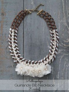 Anthropologie Guirlande Bib Necklace Knockoff - so gorgeous! made by @Bev {Flamingo Toes}