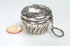 Antique English Silver TEA BALL Hallmarked by vintagebitsblitz, $95.00