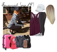 """Savannah // 4-9-17 // Flight To Dallas For Cheer Tryouts W/ Peyton"" by dream-families ❤ liked on Polyvore featuring Victoria's Secret, NIKE, Kismet, Denco Sports Luggage and TheWadeFamily"