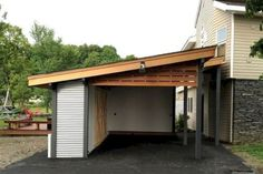 Decoration # Regardless of what you do with it, there are numerous distinctive garage design ideas you can test out. There are 49 The Best Home Garage Design Ideas for your Minimalist Home Portable Carport, Carport With Storage, Backyard Storage Sheds, Wood Storage, Storage Room, Garage Storage, Design Garage, Carport Designs, Carport Modern