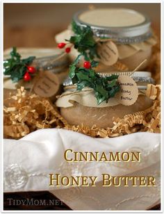 A Jar of Cinnamon Honey Butter | 38 Best DIY Food Gifts