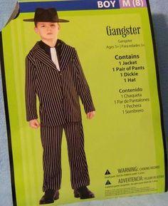 Med 8 Costume GANGSTER Childs Kid Boy TOY Pretend Play NIP 3 piece Dress up Fun  $16.95