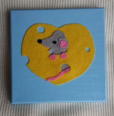 Bilder - Neugierige Maus, Bild für das Kinderzimmer - ein Designerstück von FredNeu bei DaWanda
