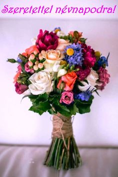 Weddbook ♥ Colorful bouquet to spread colors in your life! This bouquet is packet with roses, lilies, tulips and orchids of various different color, making the bouquet look superb. Hold this bouquet while you walk down the aisle of your wedding venue. Summer Wedding Bouquets, Bride Bouquets, Floral Wedding, Summer Wedding Flowers, Bouquet Flowers, Wedding Colors, Silk Flowers, Silk Roses, Summer Weddings