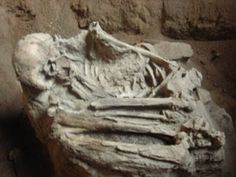 Salah satu fosil manusia purba di Goa Pawon Bandung jawa Barat Indonesia