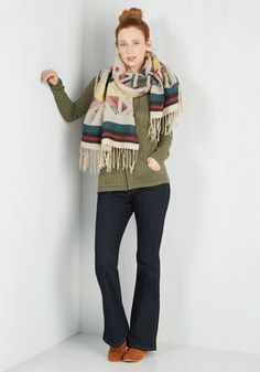 Writing Residency Scarf. With this soft blanket scarf draped over your shoulders and the national parks most notorious panorama afore you, inspiration flows freely. #multi #modcloth