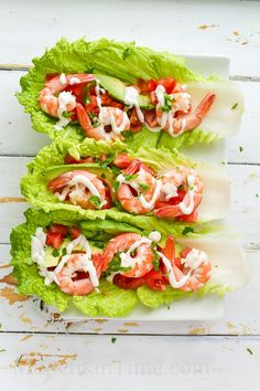 Healthy and delicious Shrimp Lettuce Wraps Recipe - made of Napa cabbage avocado tomato parsey lemon pine nuts may. Healthy Meals To Cook, Healthy Diet Recipes, Healthy Snacks, Healthy Eating, Cooking Recipes, Healthy Protein, Healthy Nutrition, Crockpot Recipes, Healthy Life