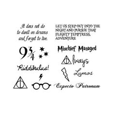Tattify Harry Potter Temporary Tattoos, You're a Wizard, Set of 24 ($28) ❤ liked on Polyvore featuring accessories and body art