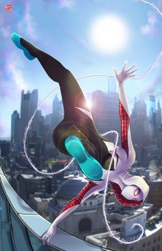 Spider-Gwen by Wil Woods. - More at https://pinterest.com/supergirlsart/