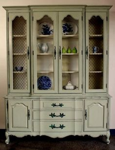 French Provincial China Cabinet By Nodtothepast On Etsy