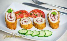 Cordon bleu – reteta video via Romanian Food, Romanian Recipes, Americas Test Kitchen, Cordon Bleu, Kfc, Prosciutto, Food Art, Carne, Sushi