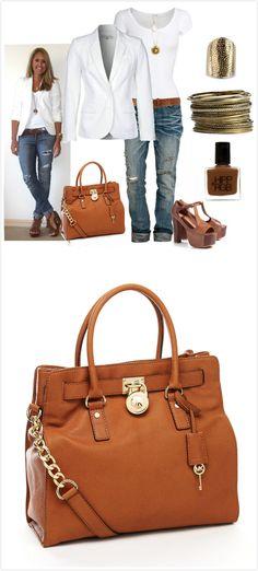 LOVE the Bag :) - Michael Kors Hamilton Large Tote, Luggage $78.00