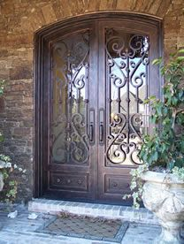 New Double Wrought Iron Entry Doors