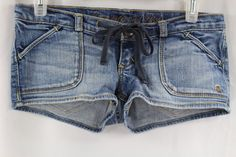 Abercrombie and Fitch A&F Womens Jean Denim Short Shorts Size 00 #AbercrombieFitch #CasualShorts