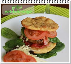 Portobello Mushroom Burger by Wine Lady Cooks