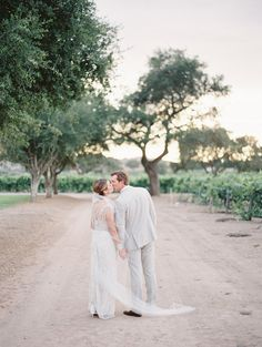 Sophisticated Outdoor Wedding at Firestone Vineyard by Kurt Boomer | Wedding Sparrow