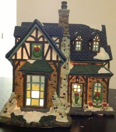 Details about Merrybrite Christmas Village Figurine Man with Wood ...