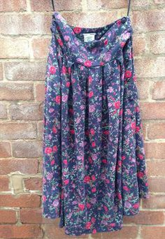 Sale price £4.50 for a Laura Ashley Floral Print Skirt from the 1980s