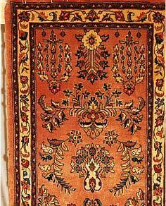 Sarogh,Persien ca 213 x 78 cm. Flor Wolle.