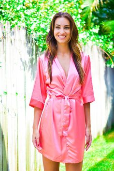 There s nothing sweeter than giving satin robes as gifts for your  bridesmaids. Show them you care with a gorgeous robe from Kadlee. 86a145377