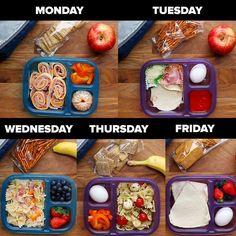 Good morning! (Via Tasty Junior)Easy School Lunch Prep for the Week  FULL RECIPE…