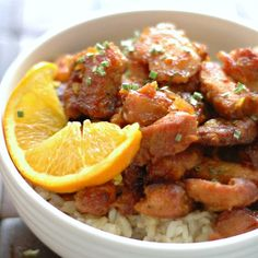Who needs takeout! Simple and light this Crockpot Crispy Orange Chicken is an easy weeknight dinner or great to entertain!