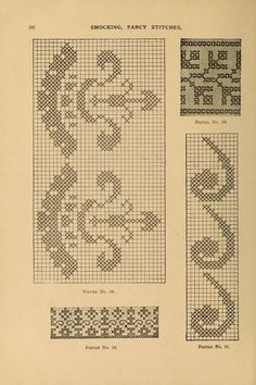 Smocking, fancy stitches, and cross stitch and ...