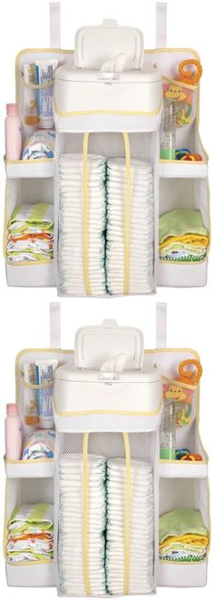 Dexbaby Nursery Organizer, White - This space-saving nursery organizer does more than bring order to your changing table, it makes most of unused vertical space! You can hang it almost anywhere: from furniture rails, dressers and chang... - Hanging Organizers - Baby - $16.16